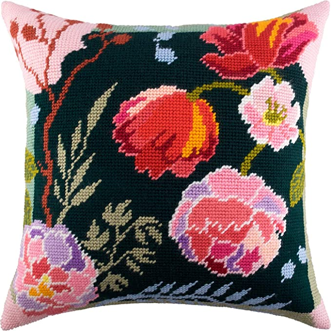 Night in May Printed Tapestry Canvas Throw Pillow 16/×16 Inches Needlepoint Kit European Quality