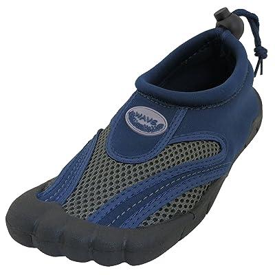 Cambridge Select Men's Quick Dry Mesh Slip-On Drawstring Non-Slip Toe Water Shoe | Shoes