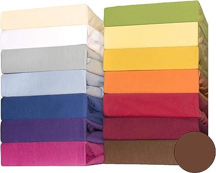 CelinaTex Lucina bebés niños sábanas Ajustables Camas para bebé Camas para niños algodón 60x120-70x140 cm marrón Chocolate