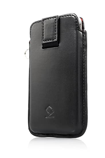 CAPDASE Smart Pcket CALLID Leather case for IPHONE 4 4G Protect case Black