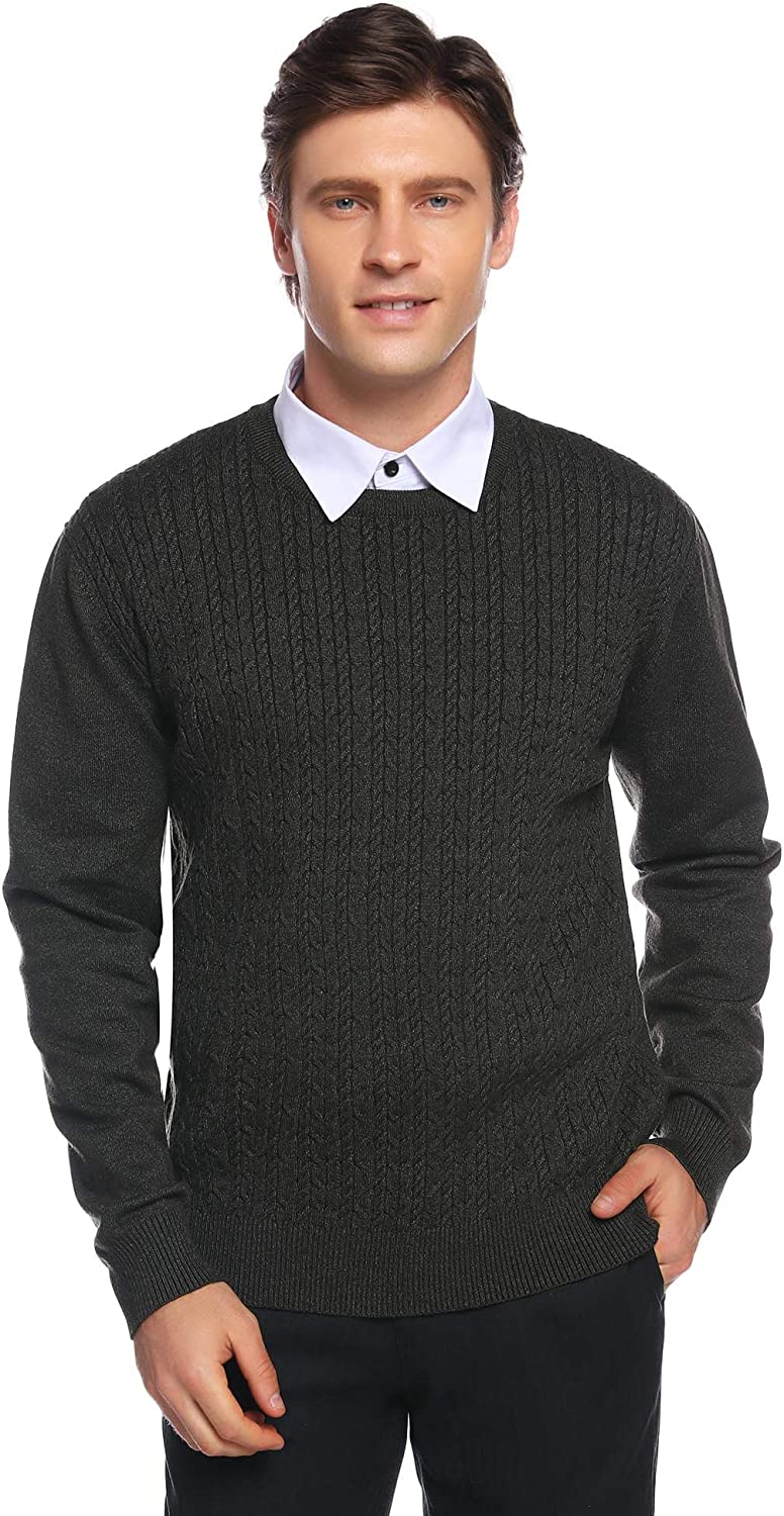 iClosam Mens Casual Striped Pullover Sweaters Knitted Tops Lightweight Longsleeve S-XXL