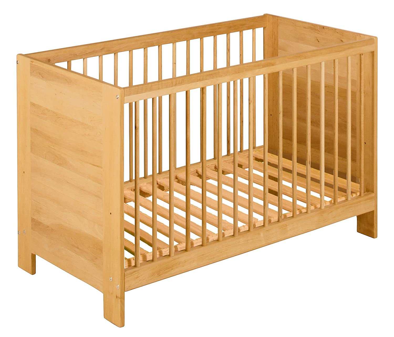 BioKinder Niklas Babybett Kinderbett Beistellbett aus Massivholz Erle 60 x 120 cm