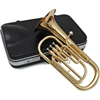 ts-ideen 6207 Straight Baritone French Horn 3-Pump Valve with Nickel Silver Mouthpiece in Black ABS Case