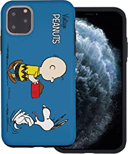 WiLLBee Compatible with iPhone 12 Pro Max Case (6.7inch) Peanuts Layered Hybrid [TPU + PC] Bumper Cover - Cute Snoopy Food