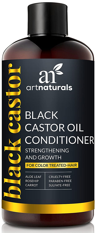 ArtNaturals Black Castor Oil Conditioner – (16 Fl Oz/473ml) – Strengthen, Grow and Restore – Jamaican Castor – For Color Treated Hair