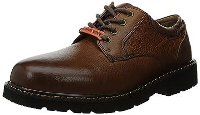 Dockers Men's Shelter Plain Toe Oxford,Dark Tan Full Grain Leather,8 ...