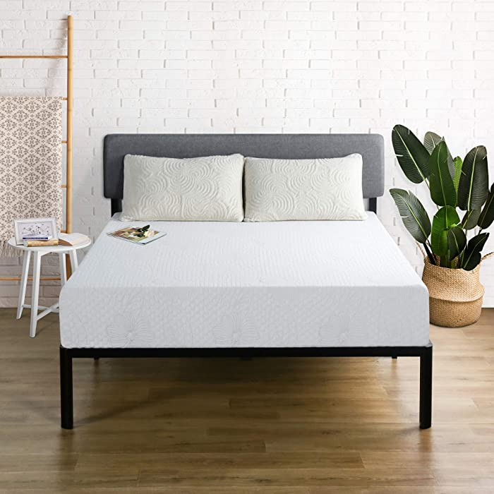 "Olee Sleep F09FM01MOLVC 9"" Cool I-Gel Multi Layered Memory Foam Mattress, Full, White"