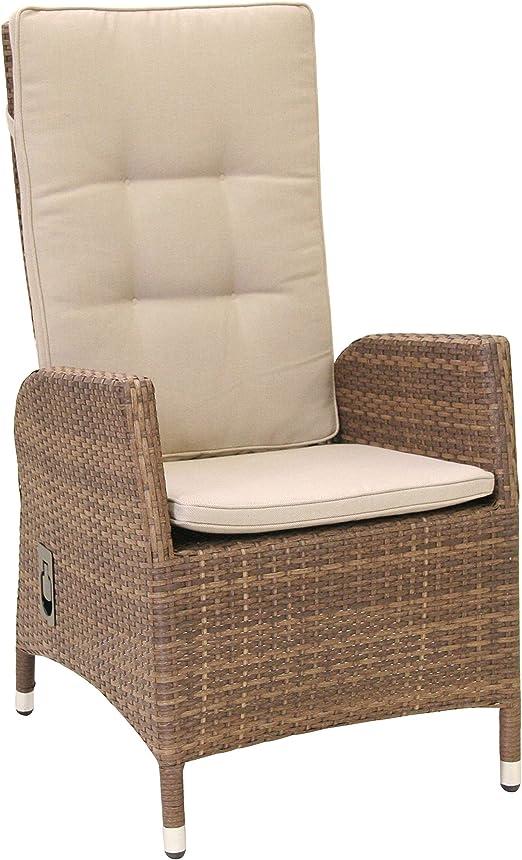 Sillón de ratán trenzado Jardín Silla de jardín silla sillón Muebles de Jardín: Amazon.es: Jardín