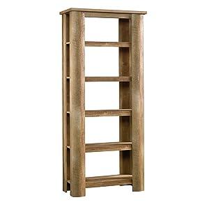 Sauder Boone Mountain Bookcase, Craftsman Oak finish