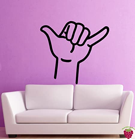 Amazon.com: Wall Stickers Vinyl Decal Hang Loose Hand Sign Funny ...