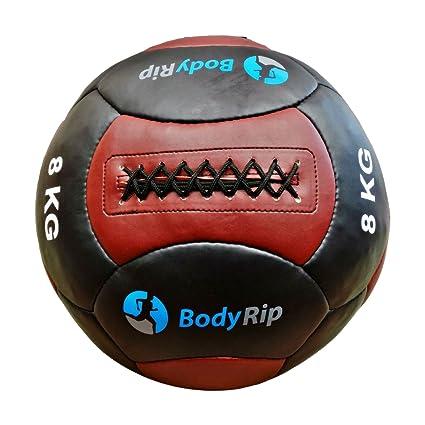 BodyRip 35,56 cm balones medicinales - Cuero Negro/marrón, 8 kg ...