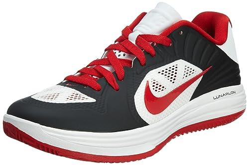 100% authentic 56a20 8d8af Nike Lunar Hypergamer Low Black Red White Mens Basketball Shoes 511368-001   US Size