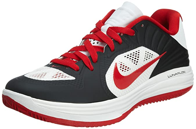 4d2f074341e ... Nike Lunar Hypergamer Low Black Red White Mens Basketball Shoes  511368-001 US Size 10.5 ...