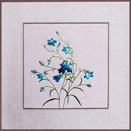 2500 seda Art 100% hecho a mano bordado azul decoración tapiz de Asia Oriental Arte