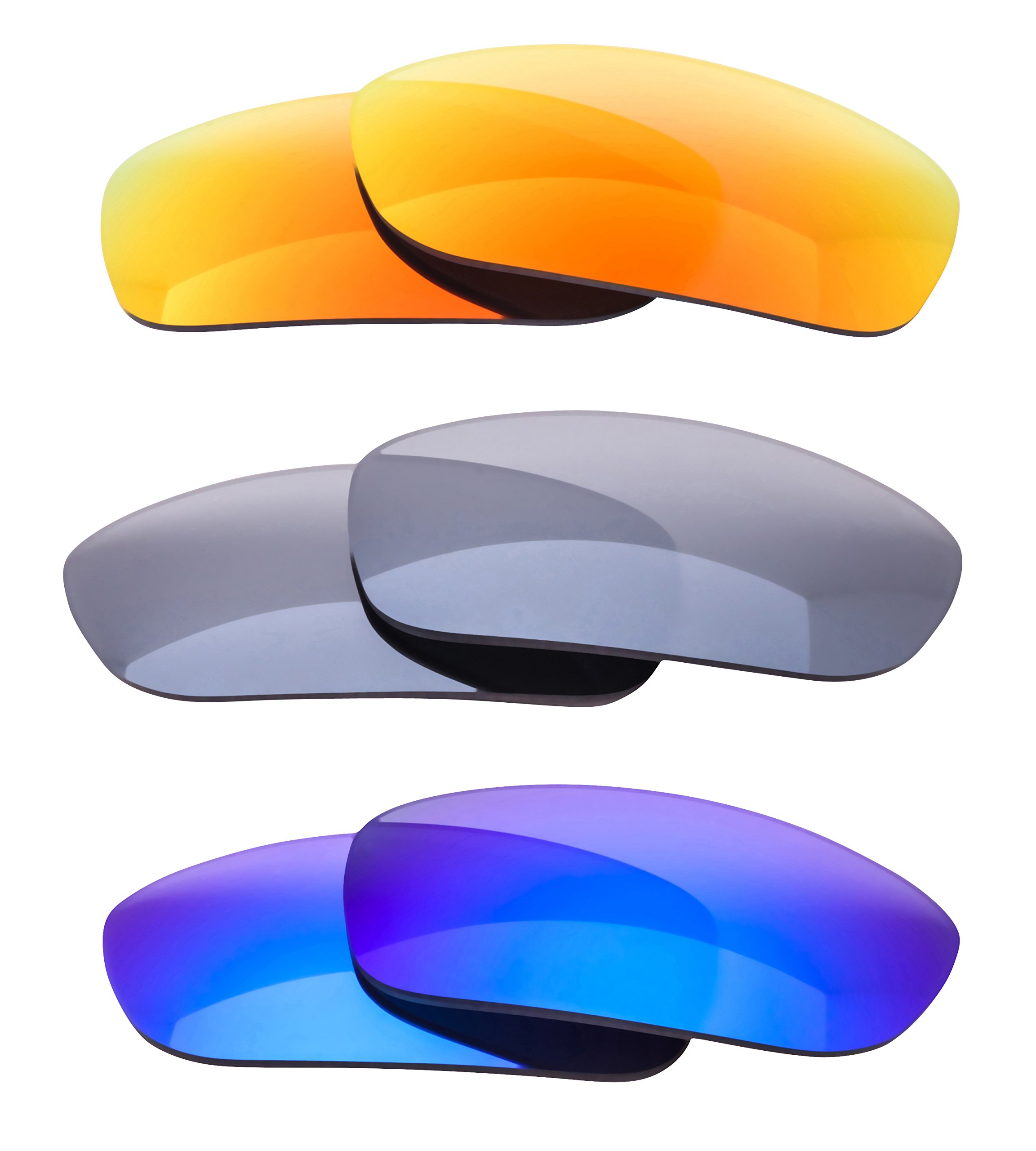 LenzFlip Replacement Lenses for Oakley Fives Squared - 3 pc Patriotic Pack by LenzFlip