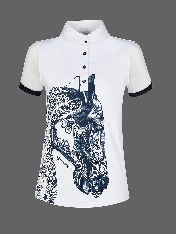 Equiline Polo Agate Camiseta con Cabeza de Caballo y Brillantes ...