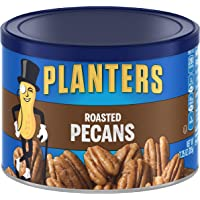 PLANTERS Roasted Pecans, 7.25 Oz. Resealable Canister - Salted Pecans - Snacks for Adults - Kids Snacks - Vegan Snacks…