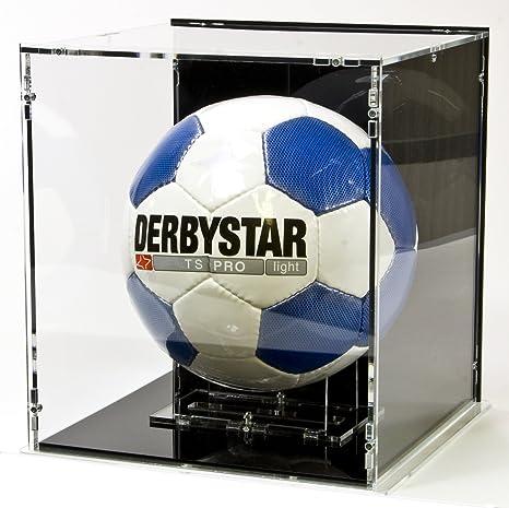 Vitrina para balón de fútbol con base y panel posterior negros ...