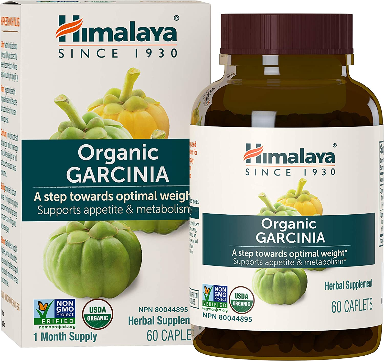 Amazon Com Himalaya Organic Garcinia Cambogia Equivalent To 2 312mg Of Garcinia Powder 60 Caplets For Weight Loss 1 Month Supply Health Personal Care