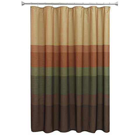 Bacova Guild Textured Layers Spice Fabric Shower Curtain