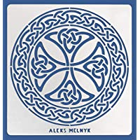 Aleks Melnyk #38.2 Metal Journal Stencil/Celtic Knot, Cross, Scandinavian, Viking Symbol/Stainless Steel Irish Stencils…