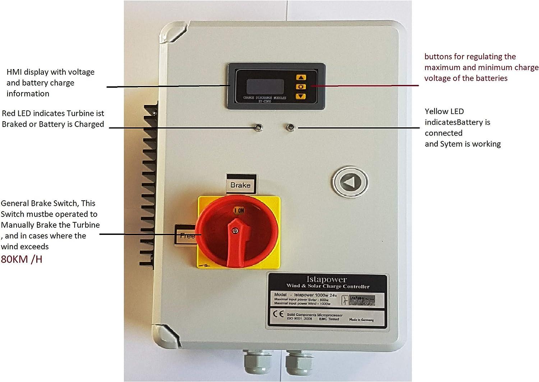 2000W de 48V Hybrid regulador de carga F. Wind Generador, Wind Turbine controlador Módulo Solar, 48.00V