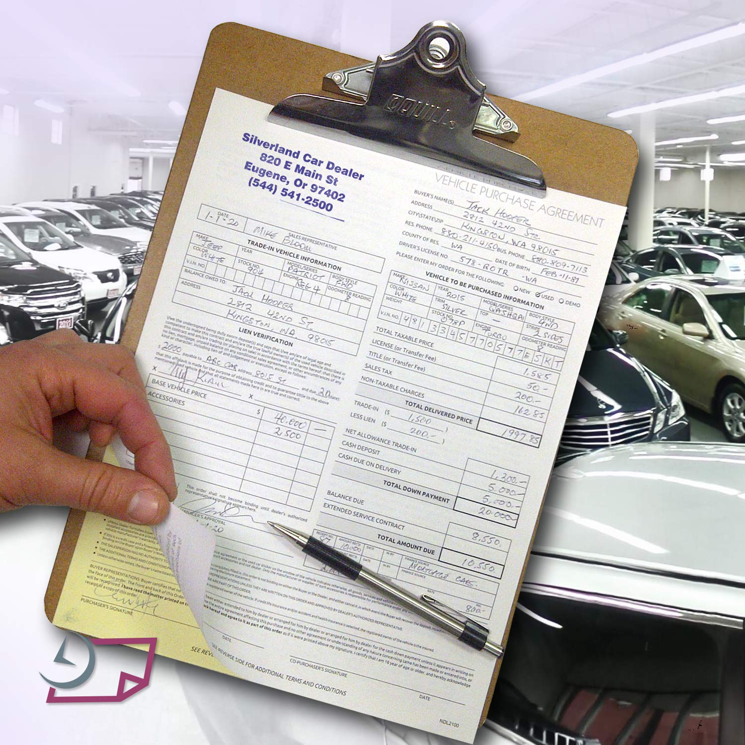Vehicle Purchase Agreement 2 Part Electronics Service ...