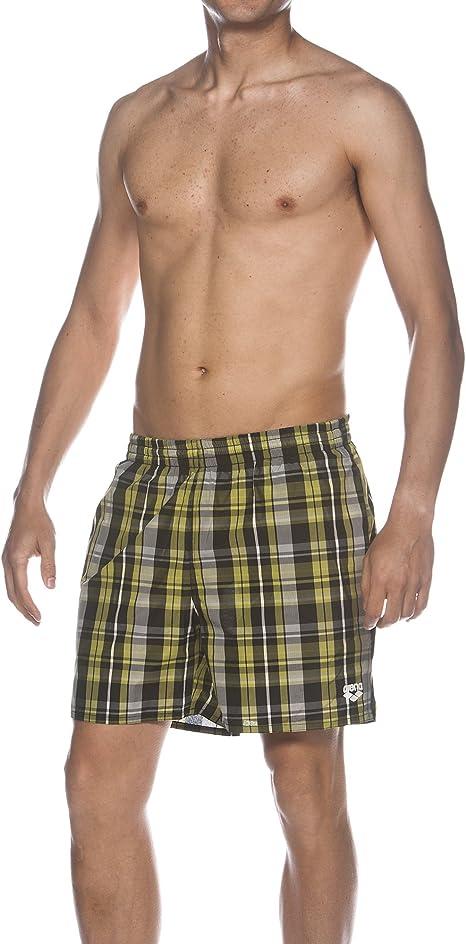 ARENA Badeshort Yarn Dyed Check 2 Boxer Bañador para Hombre