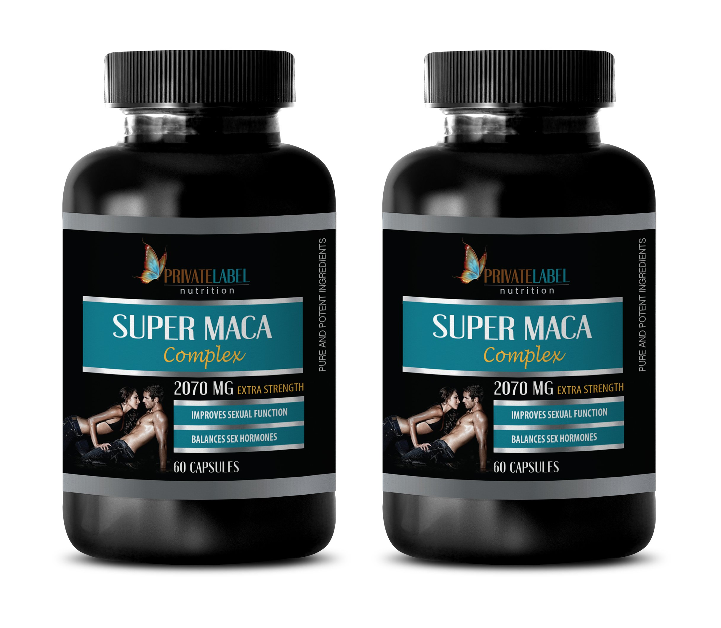 Testosterone Booster Pills for Men - Super MACA Complex - Improves Sexual Function - maca Root Supplement for Women - 2 Bottles 120 Capsules