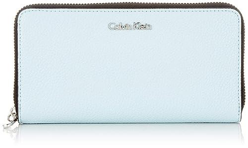 Calvin Klein - Neat Large Ziparound, Carteras Mujer, Azul ...