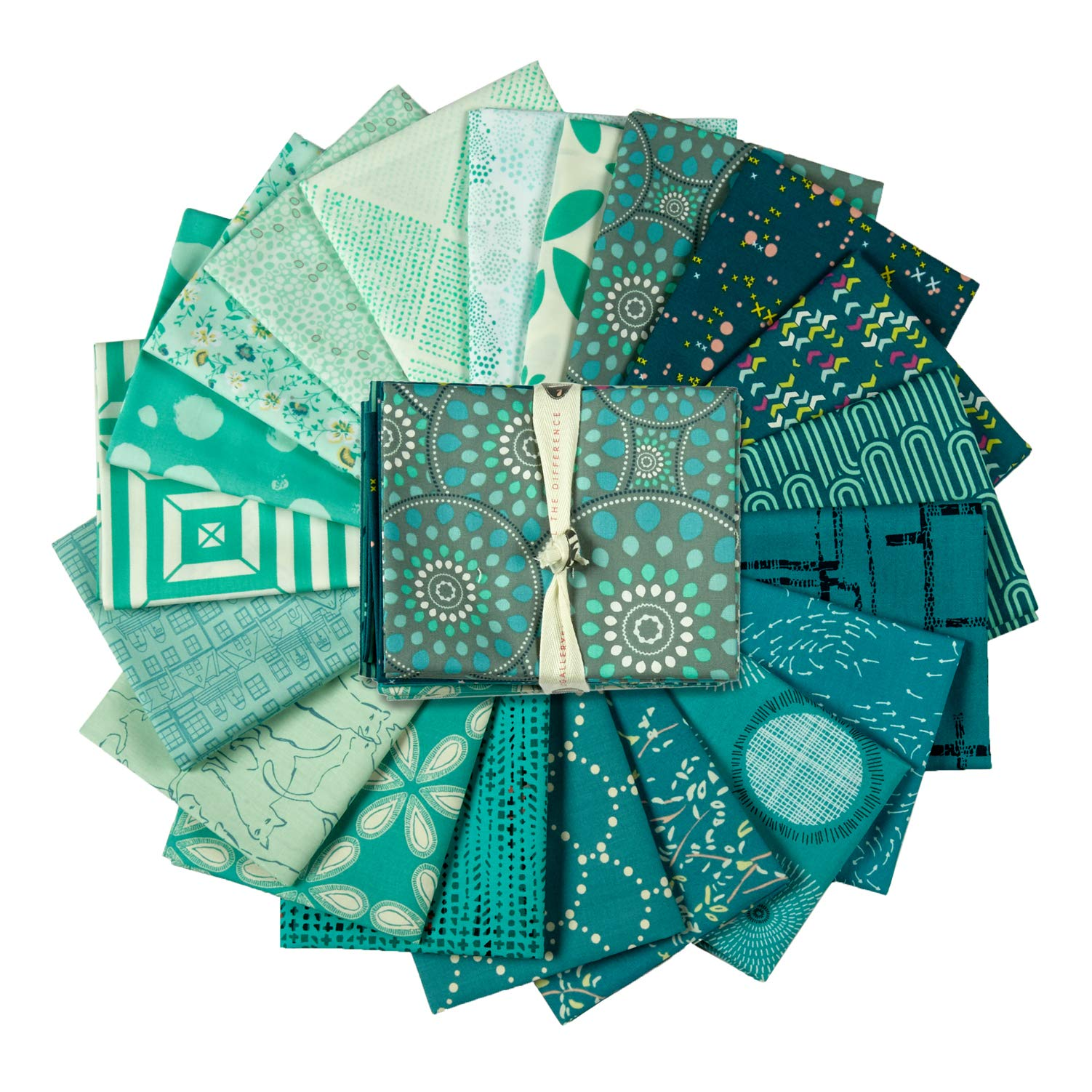 Art Gallery Fabrics Exclusive Bundle 20 Fat Quarters Turquoise
