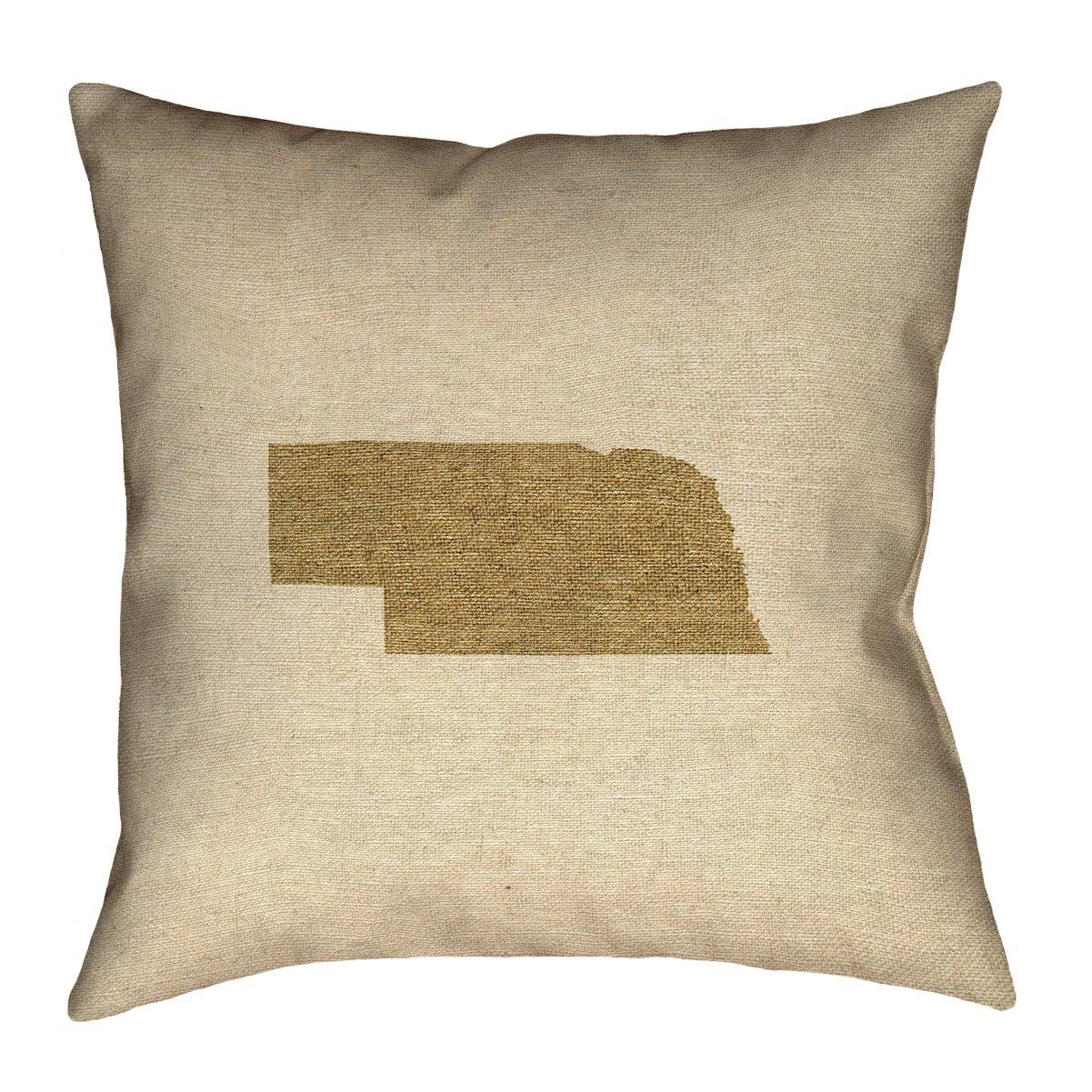 ArtVerse Katelyn Smith 36インチ x 36インチ フロア 両面プリント 隠しファスナーとネブラスカ キャンバス枕 B077H2C742