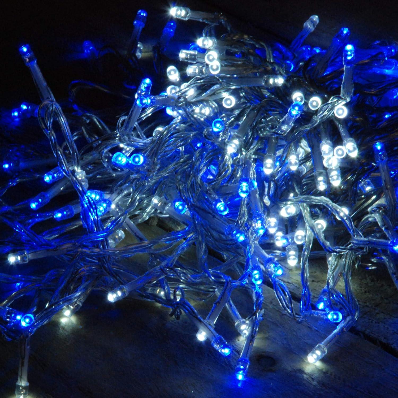 200 LED Multi-Action Supabrights Christmas Lights - Blue & White ...