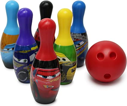 Disney Cars 3 Bowling Set Toy Gift Set For Kids Indoor Outdoor Fun