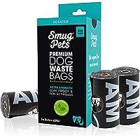 SmugPets - 315 Bolsas biodegradables para excrementos - Extragrandes y perfumadas - 15 Bolsas/Rollo