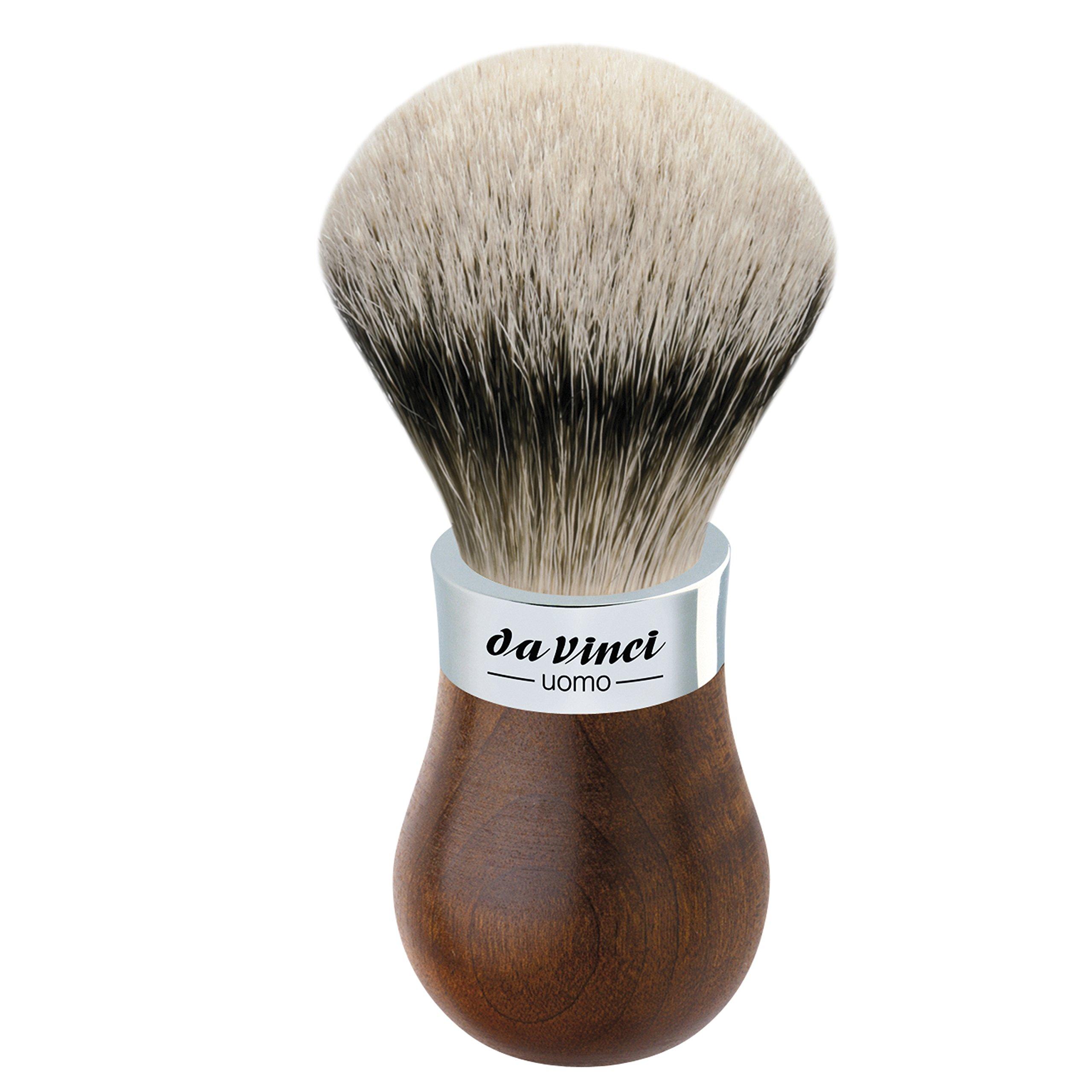 da Vinci Shaving Series 299 UOMO Silvertip Shaving Brush, Badger Hair with Kebony Wood Handle, 22mm, 57 Gram
