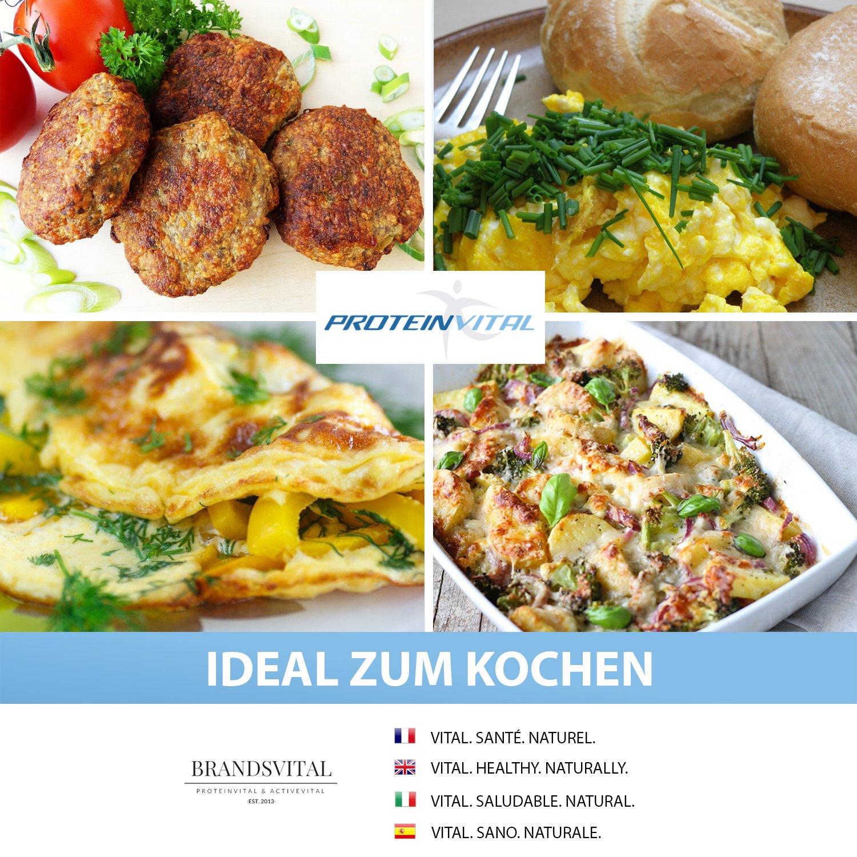 PROTEINVITAL Huevo en polvo - 1000g CRÍA EN SUELO - 100% natural de Austria - Neutro y sin aditivos - huevo en polvo para hornear y cocinar - Libre de ...