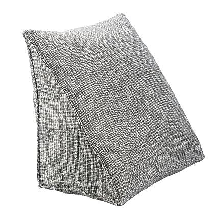 HALOViE Almohada lumbar espalda triangular almohadilla de cuña Sofá cama Silla de oficina coche cojín Ortopédico Ergonómico Mejora de la Postura ...