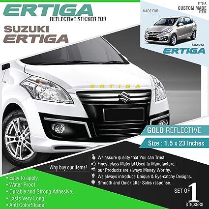 Carmetics Ertiga Decal For Maruti Suzuki Ertiga Gold Reflective