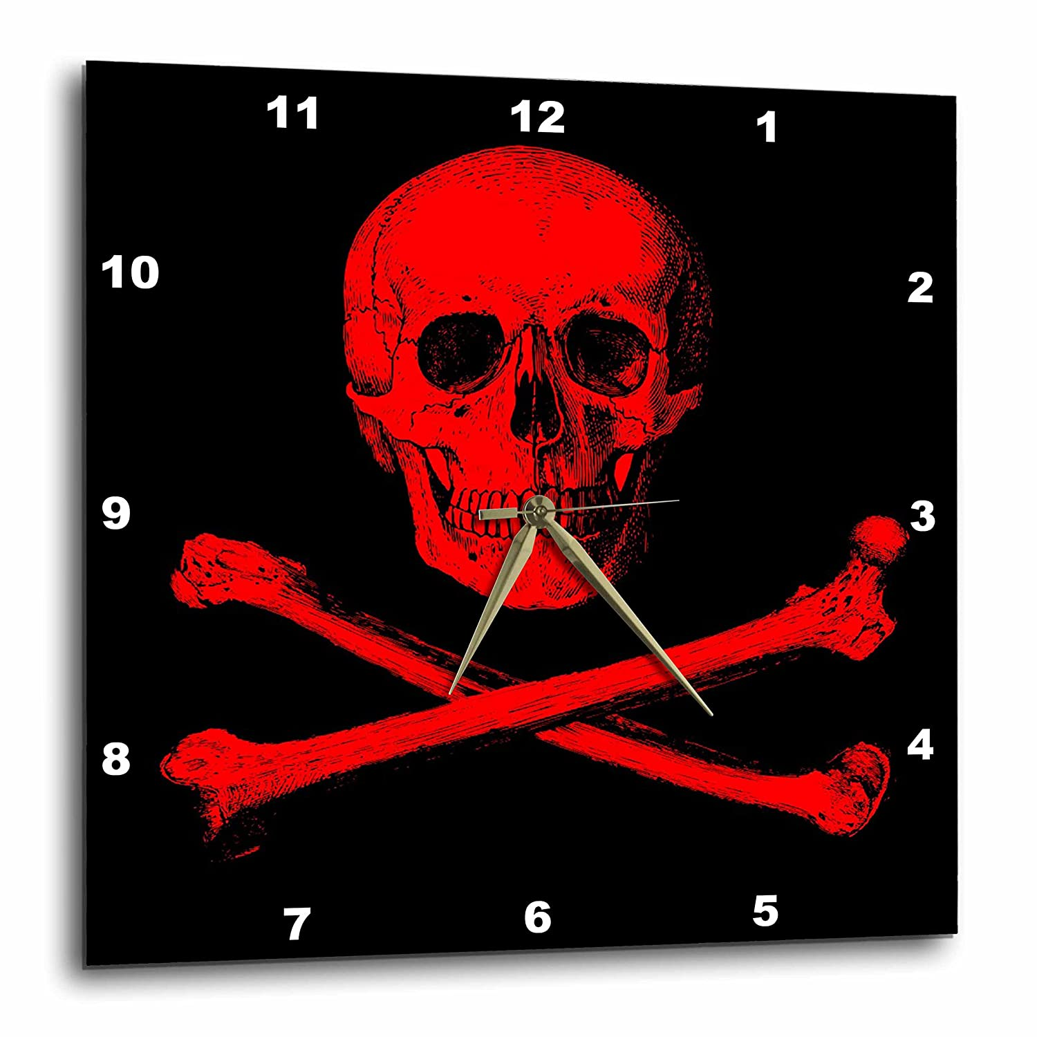 Amazon 3drose Skull And Crossbones Picture Of Red Skull And