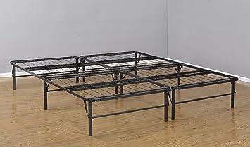 Kings Brand King Size Metal Bi Fold Folding Platform Bed Frame