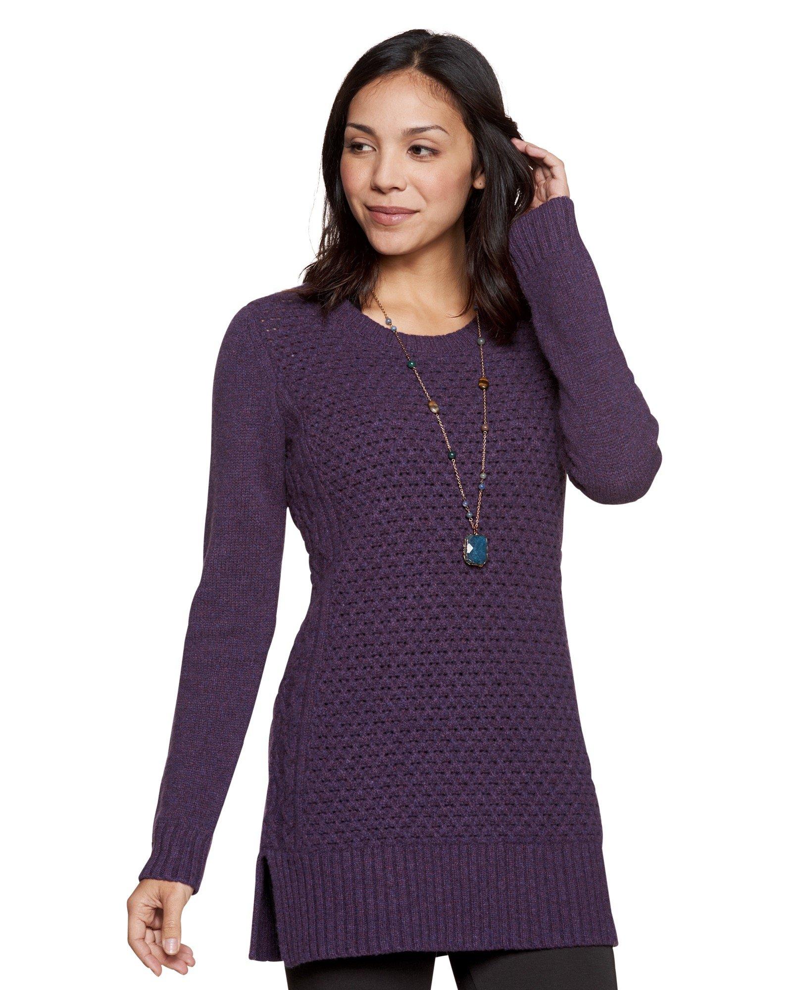 Toad&Co Women's Kintail Sweater Tunic, Nightshade, Medium