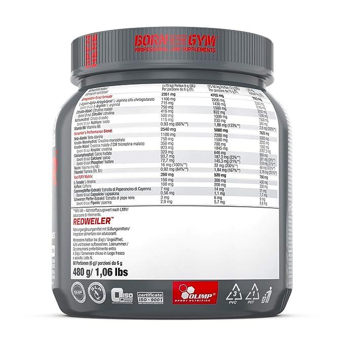 Olimp Redweiler Aminoácido - 480 gr: Amazon.es: Salud y cuidado ...