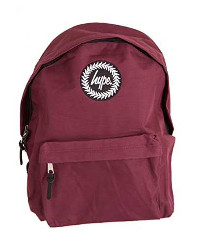 Hype Burgundy Badge Backpack Rucksack Bag - Ideal School Bags - Rucksack  For Boys and Girls  Amazon.co.uk  Shoes   Bags 4f7801ef9b188