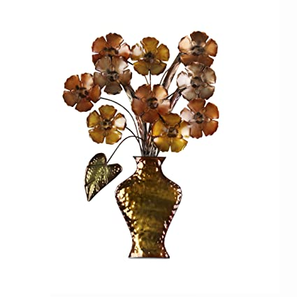 Amazon.com: Elements Flower Vase Metal Wall Decor: Home & Kitchen