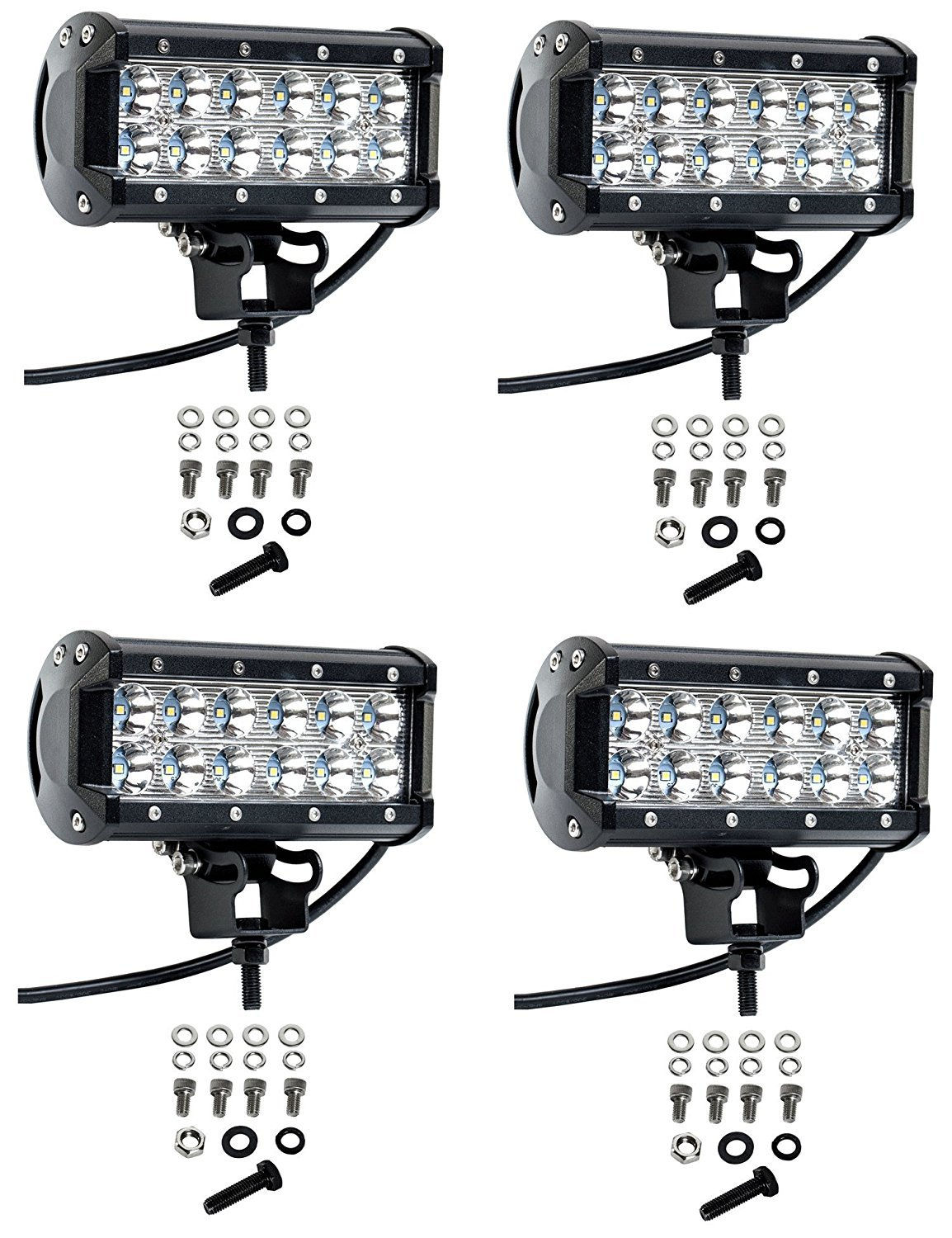Cutequeen 4 X 36w 3600 Lumens Cree LED Spot Light for Off-road Rv Atv SUV Boat 4x4 Jeep Lamp Tractor Marine Off-road Lighting (pack of 4) by Cutequeen