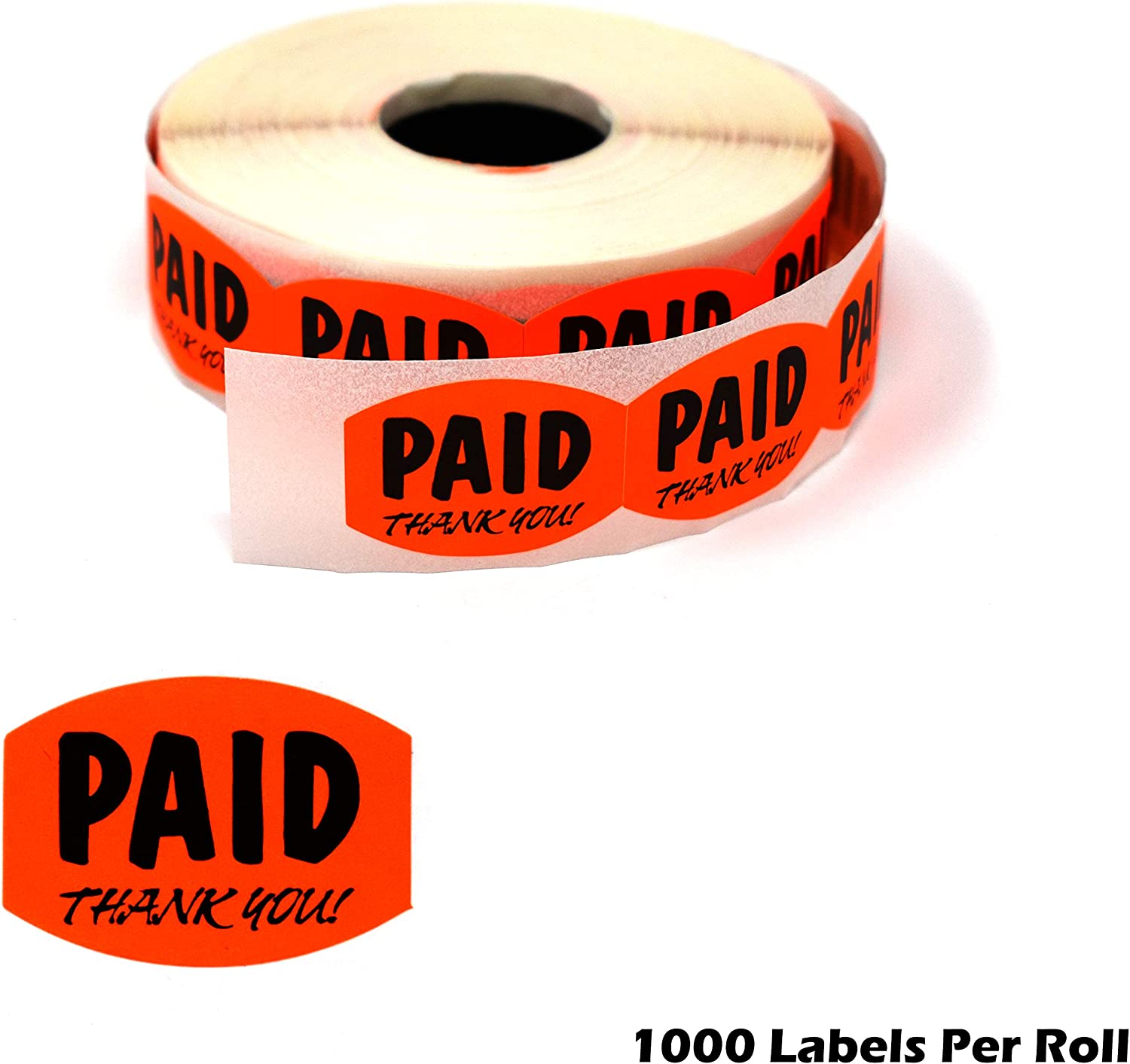"1000 Fluorescent Orange Self-Adhesive Price Labels 3//4/"" Stickers Retail Supplies"