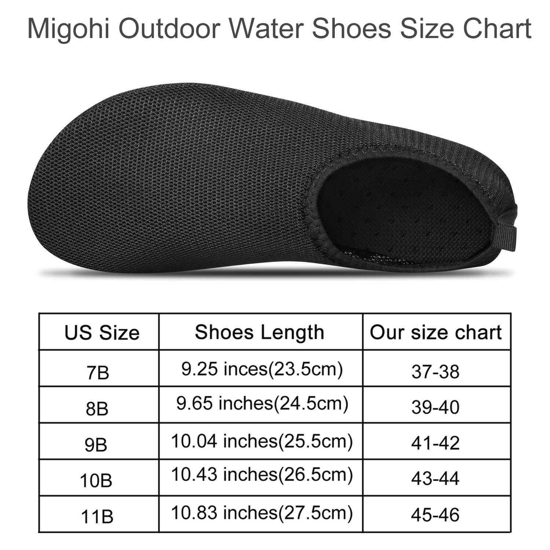 MIGOHI Mujeres y Agua de verano para hombres Zapatos de secado rápido  Zapatos de deportes acuáticos Aqua Socks para Beach Swim Surf Yoga Negro 2ae15025d1e