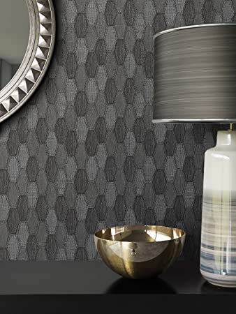 Tapete Grau Vlies In Stoff Optik | Schöne, Moderne, Edle Tapete Im Grafik