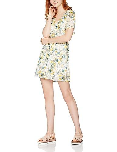 FIND Vestido Estampado de Manga Corta para Mujer